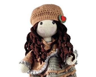 Josie Crochet Doll Amigurumi, Girl Doll, Handmade Hypoallergenic Doll