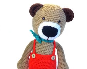 Billy the Stylish Bear Crochet Pet