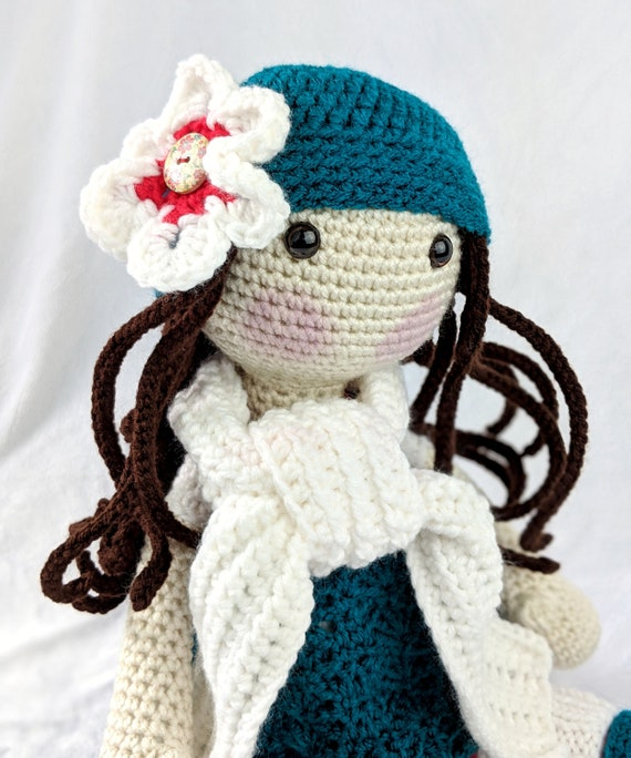 118 Crochet Pattern - Girl doll in a frog outfit - Amigurumi Pdf ... | 684x570