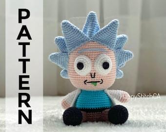 PATTERN Rick sanchez lookalike amigurumi pattern pdf crochet | Etsy | 270x340