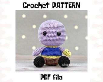 Thanos crochet PATTERN, DIY crochet Thanos, PDF pattern (English), instant download