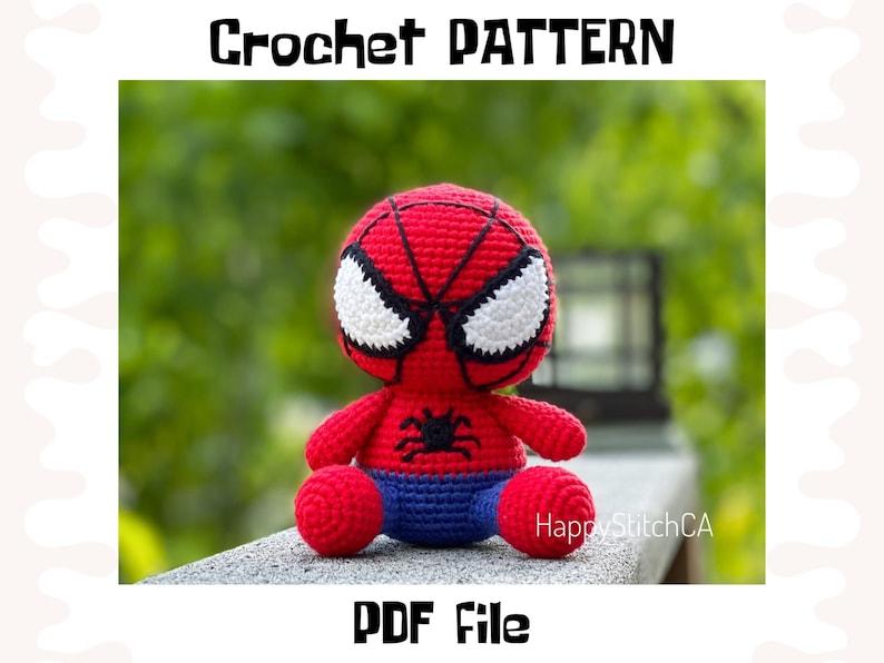 Spiderman crochet PATTERN DIY crochet Spiderman PDF pattern image 1