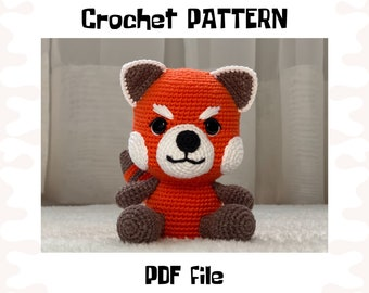Red Panda crochet PATTERN, DIY crochet red panda, PDF pattern (English), instant download