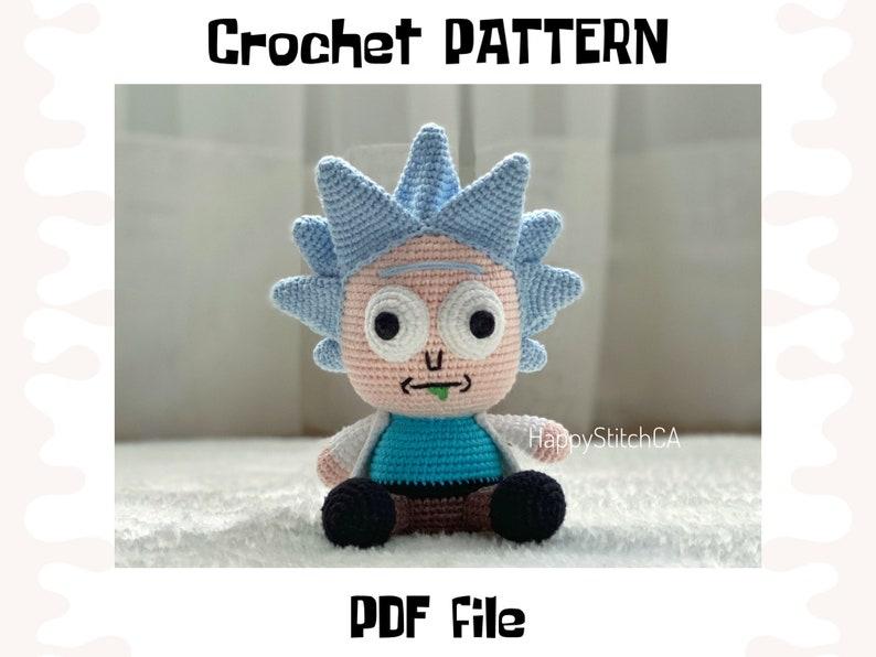 Rick crochet PATTERN DIY crochet Rick PDF pattern English image 0