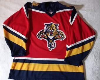 ef38bf05d3e Vintage 90 s Florida Panthers Stitched CCM Jersey