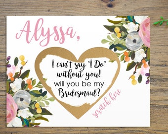 2e49b17aa311f SET OF 4 or more Scratch-Off Will you be my Bridesmaid Cards - Maid of Honor