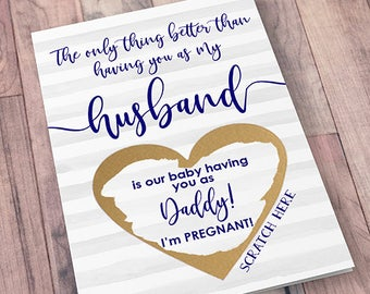 Pregnancy announcement to husband | Etsy