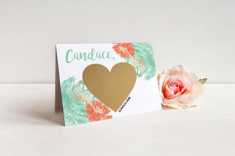 Bridesmaid Proposal Card Invitation w Metallic Envelope Bridesmaid Scratch Off Cards SET OF 4 or more Will you be my Bridesmaid Cards