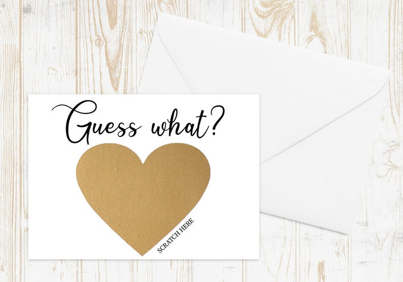You/'re Going To Be Grandparents Baby Announcement Card Pregnancy Announcement Guess What Pregnancy Card Scratch Off Pregnancy Reveal
