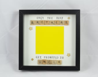 Personalised Scrabble Uncle Photo Frame