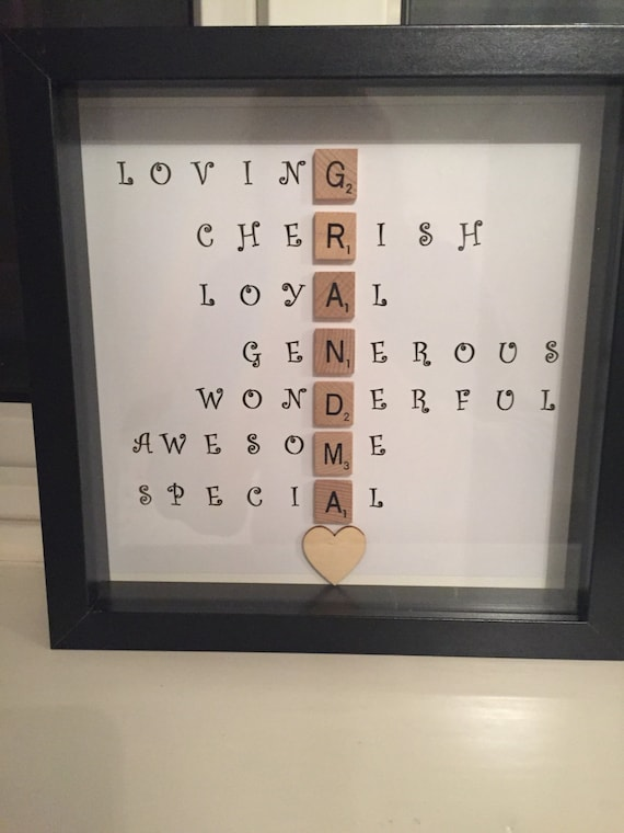 Special Scrabble Grandma Frame Caring Words Perfect