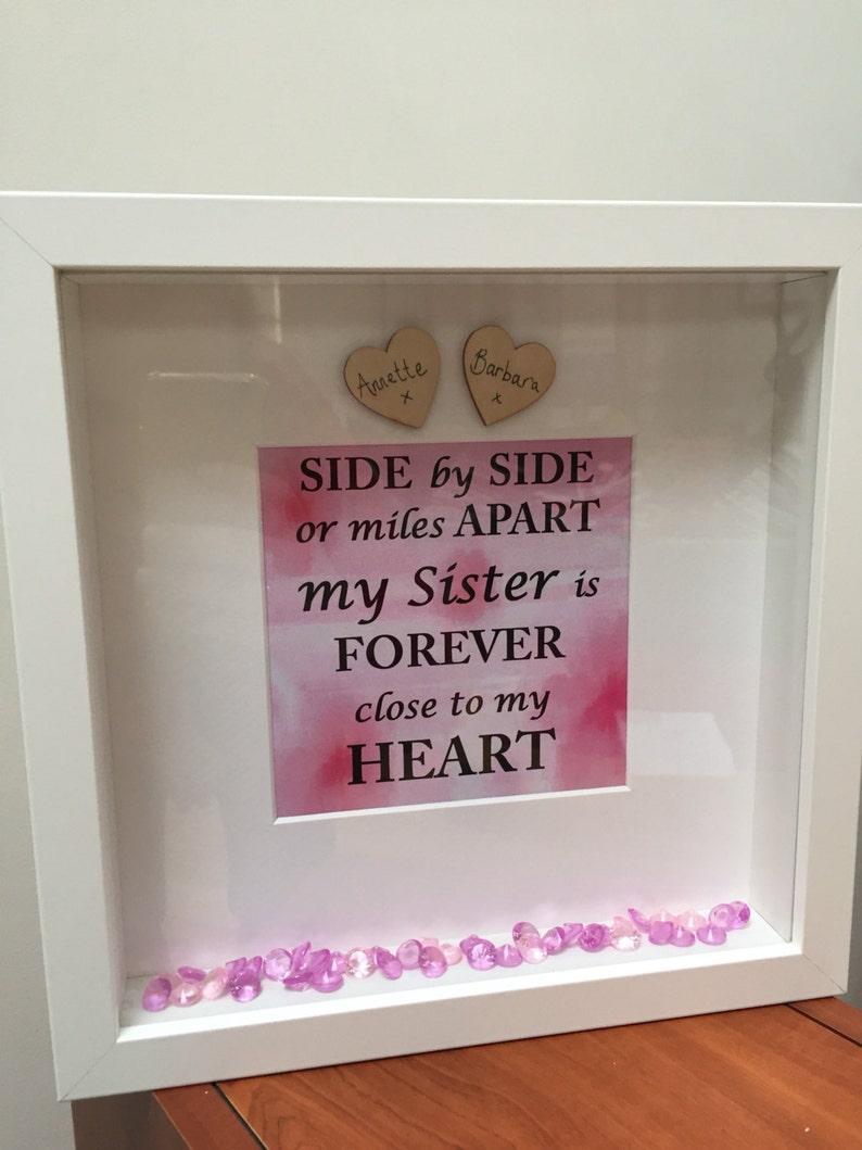 Personalised Sister Frame Birthday Present For Sister I Love