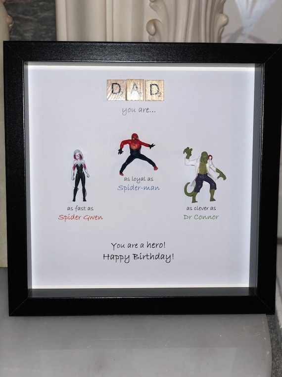Personalised Spiderman frame special words for a special   Etsy