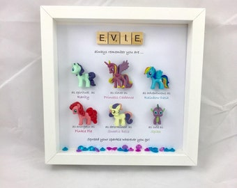 Personalised My Little Pony style Special Box Frame Gift-Birthday-Christmas-Perfect present- friend-mum- daughter-sister-niece