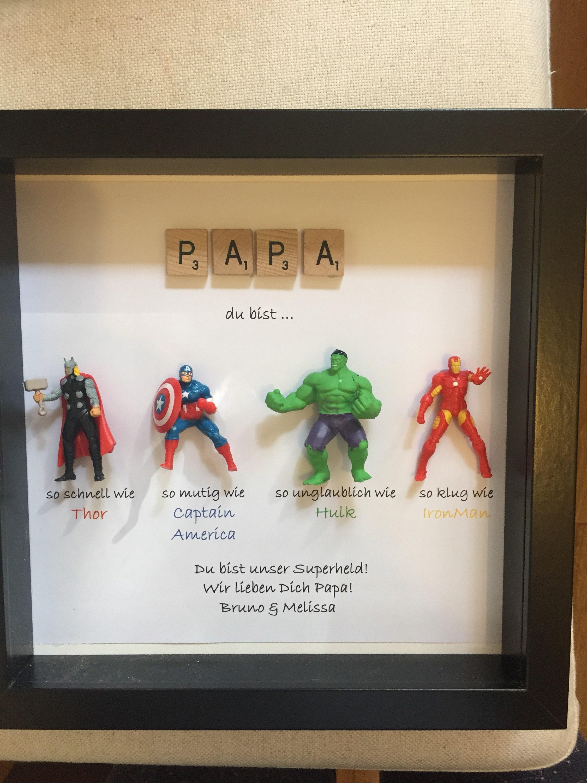 Avengers Superhelden Figuren Rahmen Geschenk. Ideal für den   Etsy
