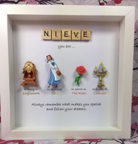 Disney Beauty And The Beast Frame Perfect Mum Sister Etsy