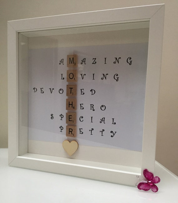 Mama Photo Frame Word Frame Picture Gift Photos in a Word