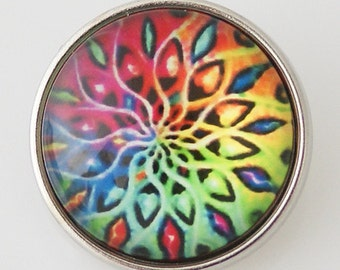 Item# 2858--- 20mm Swirl Glass Snap (FREE Shipping Coupon Code in Description)