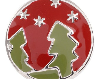 Item# 5058--- 20mm Christmas Trees and Snow Snap (FREE Shipping Coupon Code in Description)