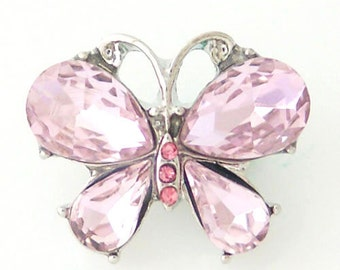 Item# 8148--- 20mm Pink Butterfly Snap (FREE Shipping Coupon Code in Description)