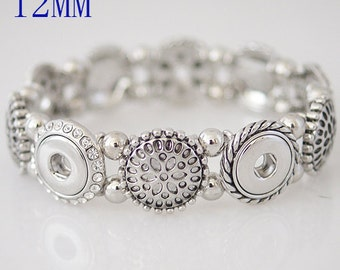 Item# 0333--- 12mm Snap Jewelry 12mm Elastic Mult-Circle Bracelet (FREE Shipping Coupon Code in Description)
