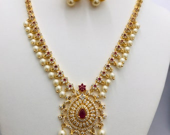 283b7803d40 92.5 Silver   22K Gold Polish Cz stones and ruby stones