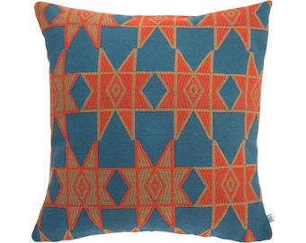 SALE Moroccan Star cushion in blue 45 cm square