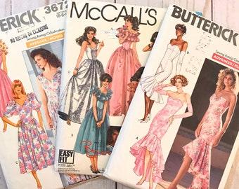Vintage Sewing Pattern. Vintage Dress Pattern. Gown Pattern.