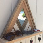 Mirrored Entryway Shelf Reclaimed Wood