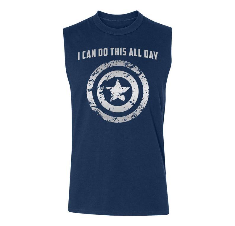 c47824b02e2b04 Tank Captain America  I Can Do This All Day Men s Guy