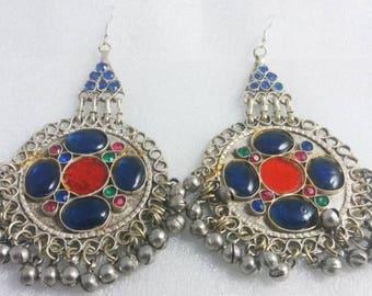 Kuchi Earrings Belly Dance Earrings Afghan Earrings Nomad Earrings Bellydance Earrings Old Ethnic Earrings Old Tribal Earrings