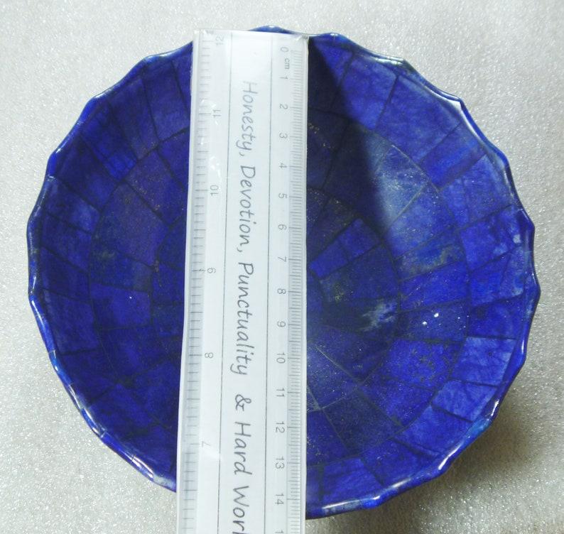 Natural Handmade 14CM wide Lapis Lazuli Bowl from Badakhsan Afghanistan 465 Gram