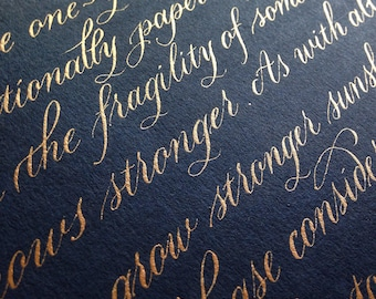 Custom Calligraphy For Wedding Vows Poems Quotes Bible Etsy
