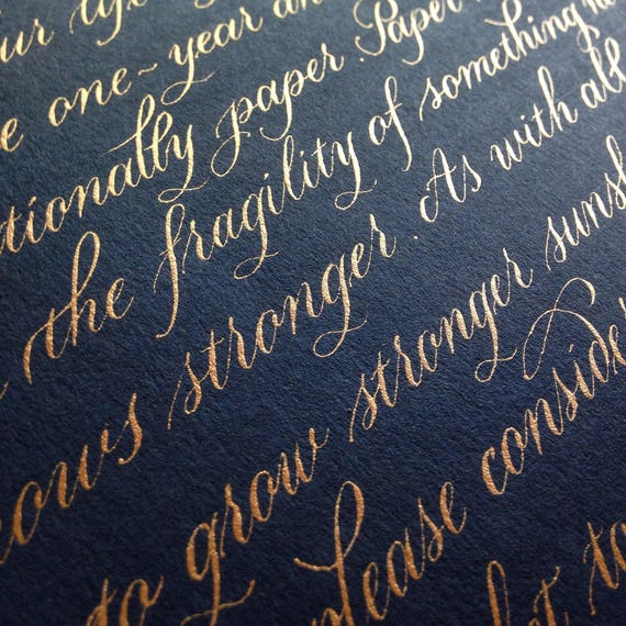 Custom Calligraphy For Wedding Vows Wedding Vow Renewal Etsy