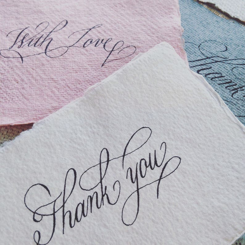Custom Calligraphy For Thank You Cards Birthday