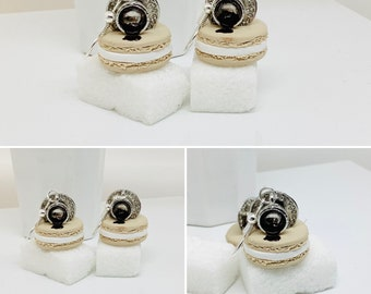 costume jewelry gourmet jewelry Ring shell macaroon fimo