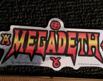 80s Prismatic Vintage Vending Machine Prism Sticker Megadeth Dave Mustaine Metallica Death Metal Speed Metal ITunes