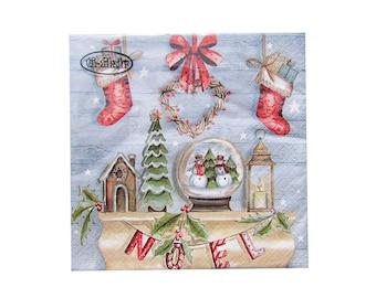 Paper napkins Rustique Noel 20 pieces Christmas napkin
