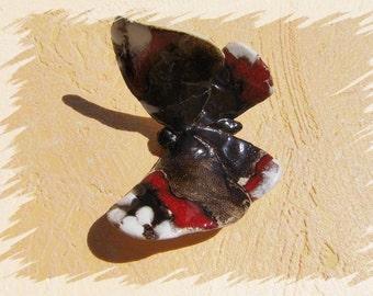 Butterfly Brown red Vintage Dekoschmetterling Butterfly