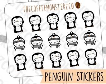 Penguin Onesie Emotis  - emoti planner stickers E311