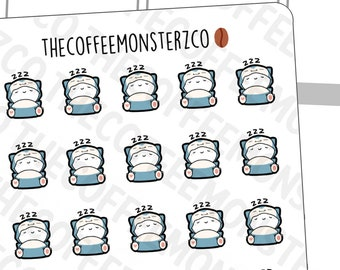 Snorlaxmotis - | Hand Drawn Planner Stickers and Bullet Journal Emoti Stickers E440