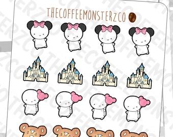 theme park emotis  - emoti planner stickers E243