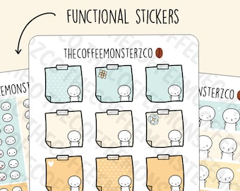 Happy Mail Kit Functional Stickers   Hand Drawn Planner Stickers and Bullet Journal Emoti Stickers
