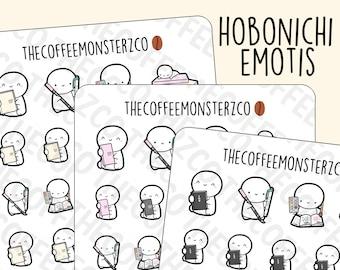 Hobonichi Emotis   Hand Drawn Planner Stickers and Bullet Journal Emoti Stickers E357