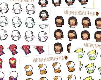 Halloween emotis single sheets (FINAL STOCK) - emoti planner stickers