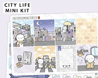 Coffee Aesthetic Anytime Cosy Home Cozy Warm Cozy Coffee Mini Kit    Premium Matte Planner Sticker Kit for Vertical Planners