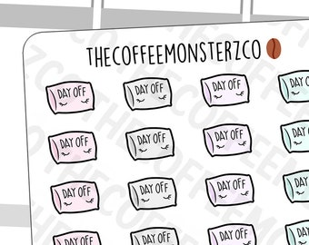 Day Off Pillows - | Hand Drawn Planner Stickers and Bullet Journal Emoti Stickers E366