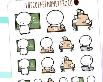 teacher emotis - emoti planner stickers E107