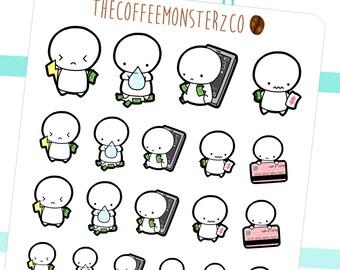 bill paying emotis - emoti planner stickers E076
