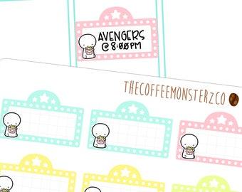 emoti movie marquees - emoti planner stickers